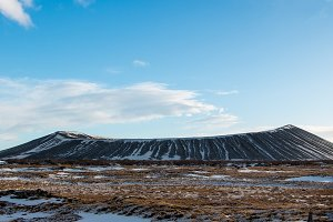 Hverfjall crater Iceland