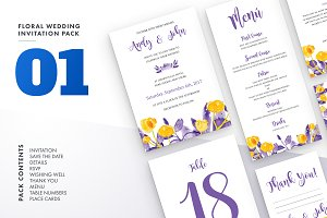 Floral Wedding Invitation Set Vol.1