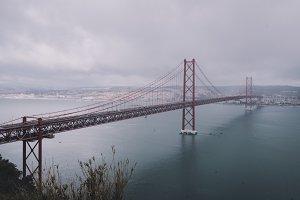 Big Bridge over the Foggy Bay