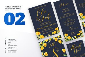 Floral Wedding Invitation Set Vol.2
