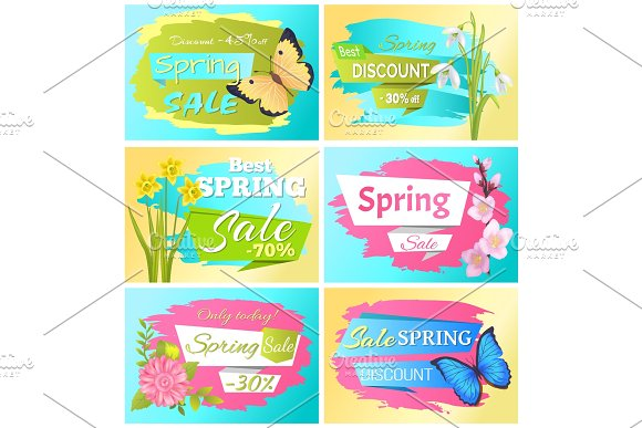 Best Choice Big Spring Sale Adver Tag Label Poster