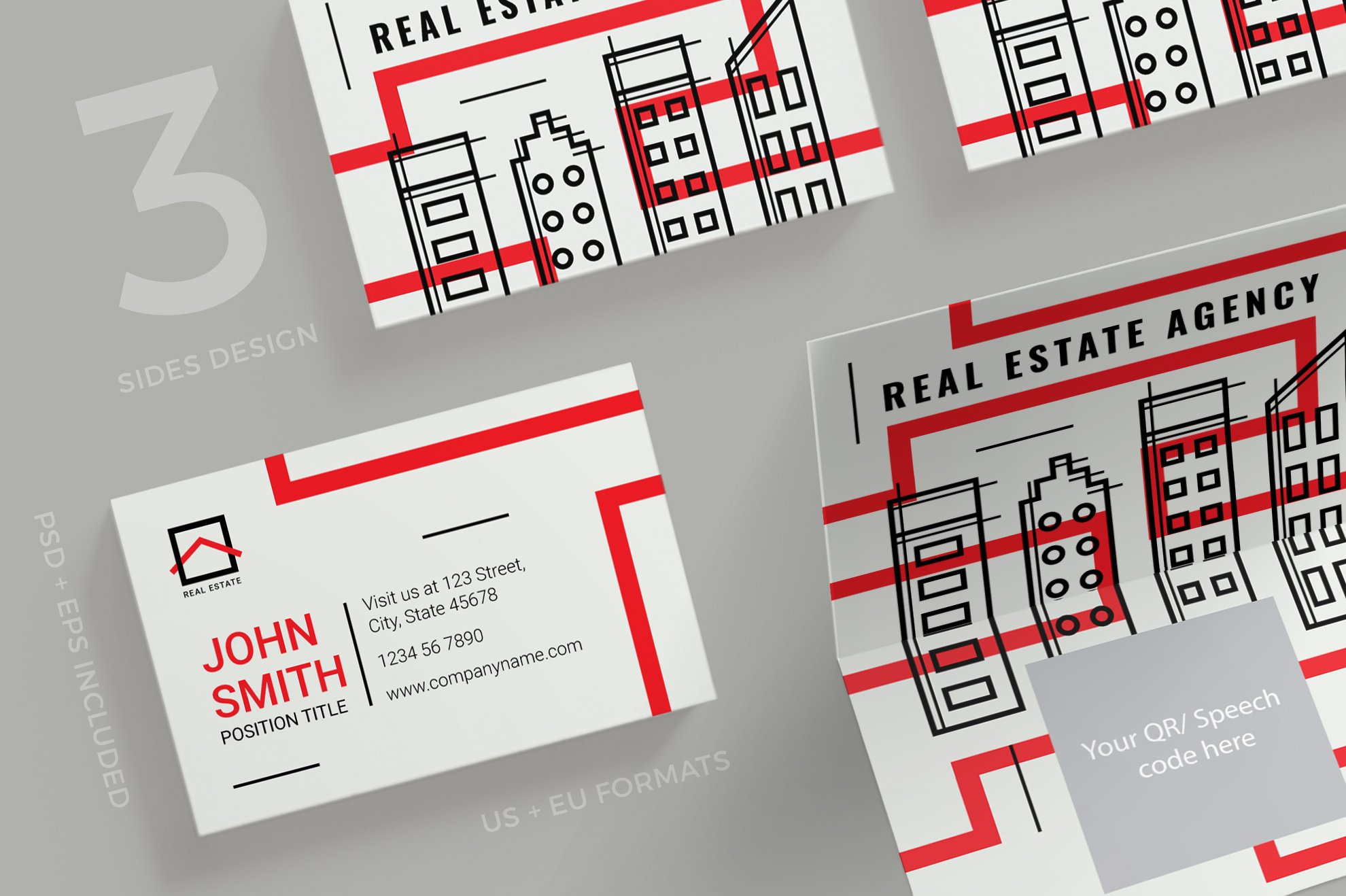 Business Cards | Real Estate Agency ~ Business Card Templates ...