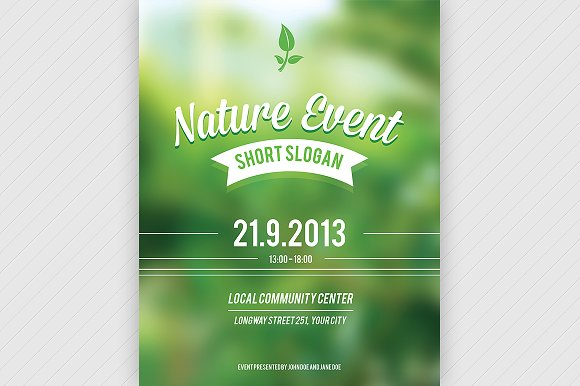 Nature event flyer psd flyer templates creative market for Event brochure templates