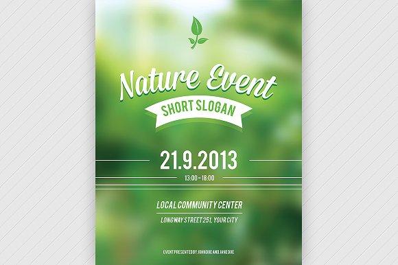event brochure templates - nature event flyer psd flyer templates creative market