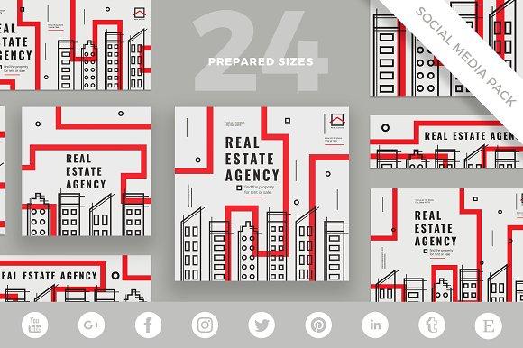 Social Media Pack Estate Agency