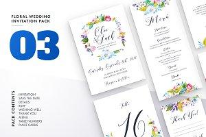 Floral Wedding Invitation Set Vol.3