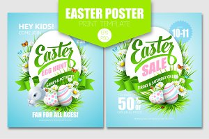 Easter Poster. Print template
