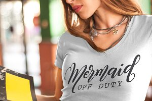 Mermaid off duty SVG DXF PNG EPS