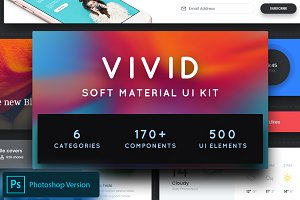 Vivid - Soft Material UI Kit Pack 1