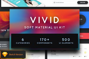 Vivid - Soft Material UI Kit Pack 2