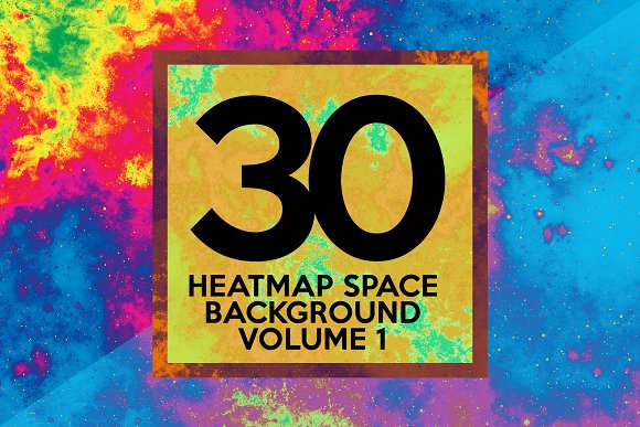 30 Heat Map Space Background Vol.1
