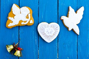 Romantic composition of gingerbread.