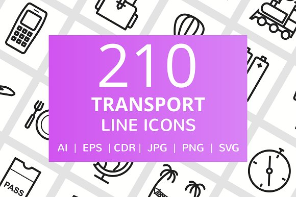 210 Transport Line Icons