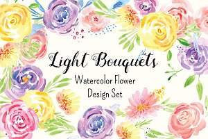№266 Delicate Flower Watercolor