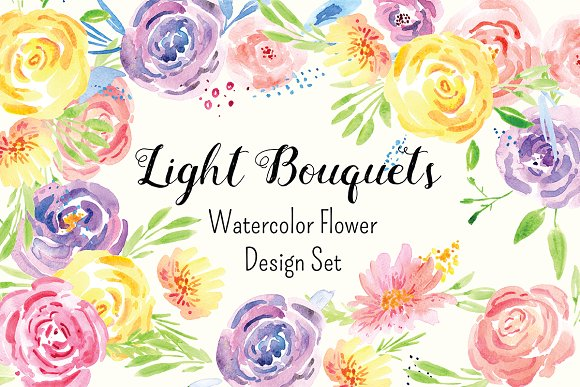 Delicate Flower Watercolor Clip Art