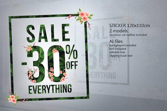 Sticker SALE 30% Jungle