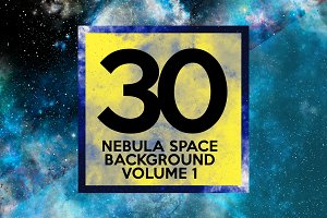 30 Nebula Space Background Vol.1