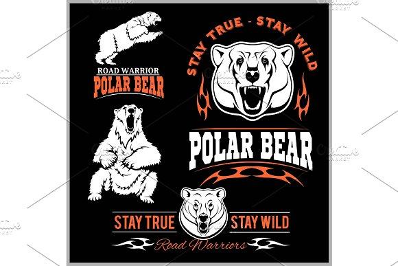 Polar Bears Vector Set