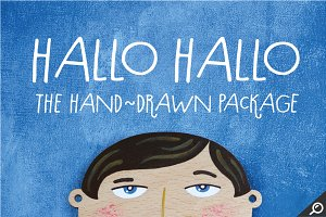 Hallo Hallo - HandDrawn Font Package