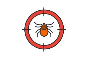 Mite target color icon