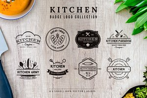 Kitchen Badge Logo Collection