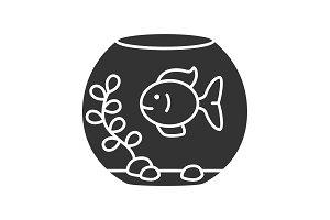 Aquarium glyph icon