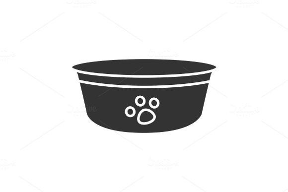 Dog's Bowl Glyph Icon