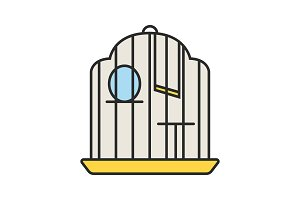 Birdcage color icon