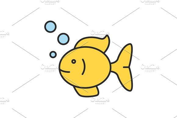 Aquarium Fish Color Icon