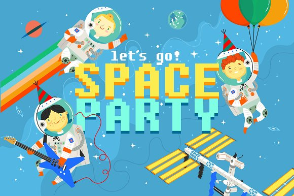 Space Party Astronauts Kit
