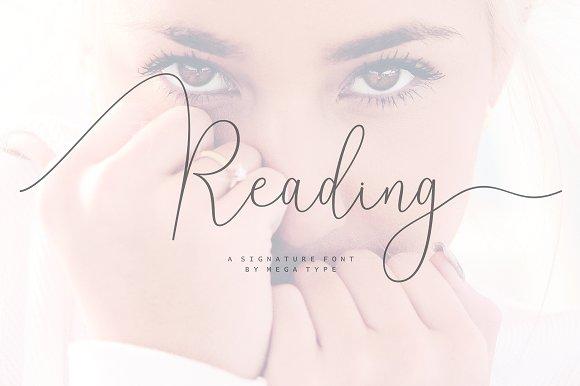 Reading Signature Font