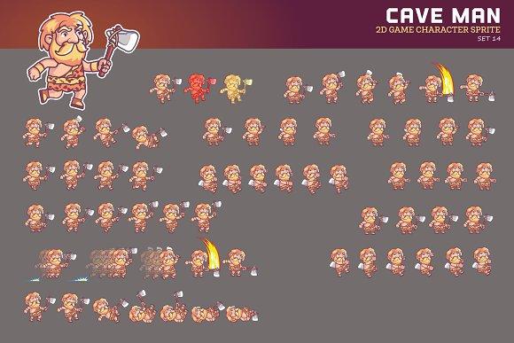 CAVE MAN GAME SPRITE