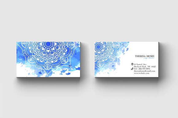 Business Card Template Yoga Master