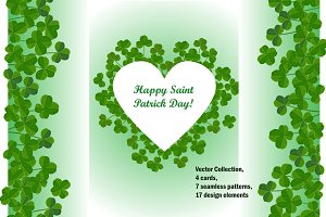 Clover Set for Saint Patrick Day