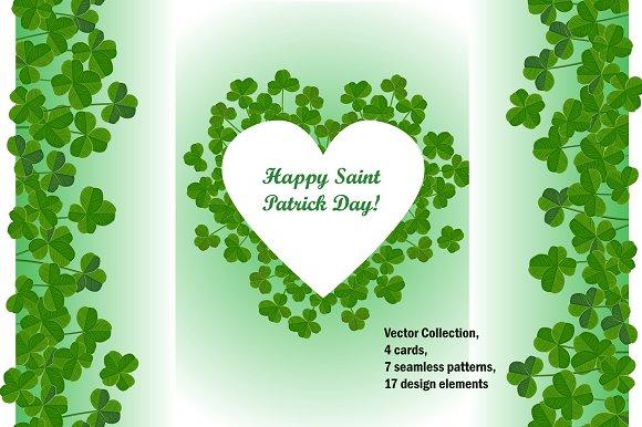 Clover Set For Saint Patrick Day