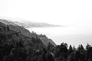 Mountain Fog Coastline