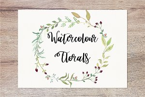 Hand painted watercolour florals