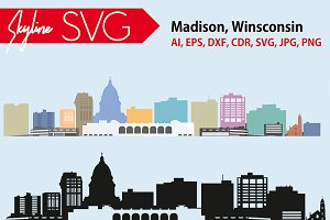 Madison city SVG, Madison Vector