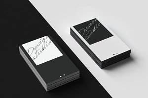 Business Card Template Black