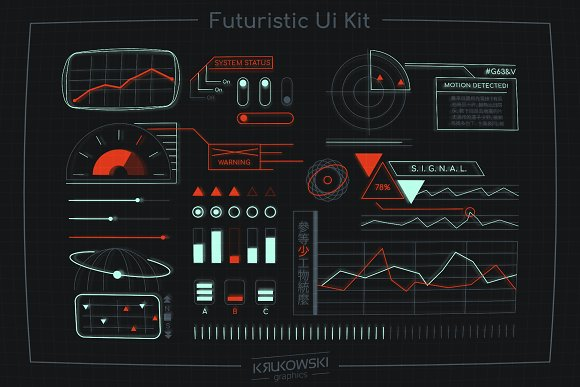 Futuristic Ui Kit Space HUD