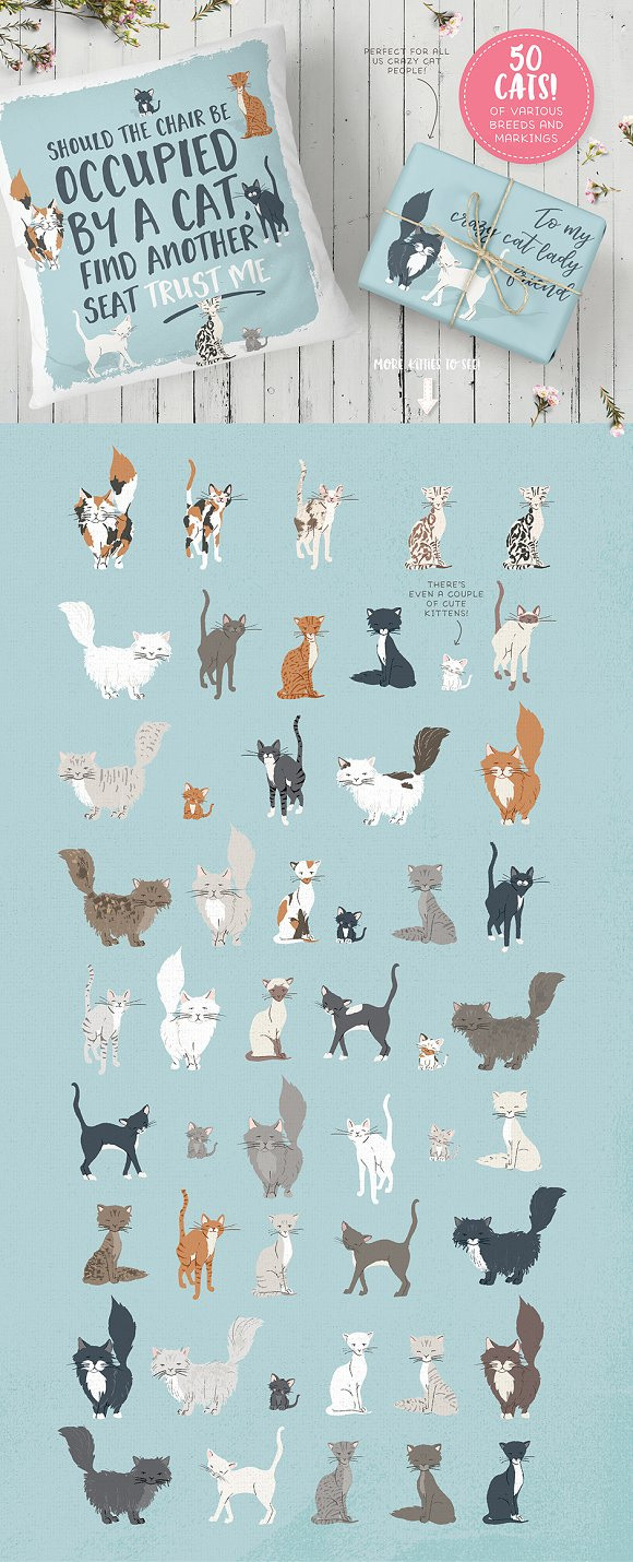 Cats, Dog breeds & Horses: 165 pets in Illustrations - product preview 2