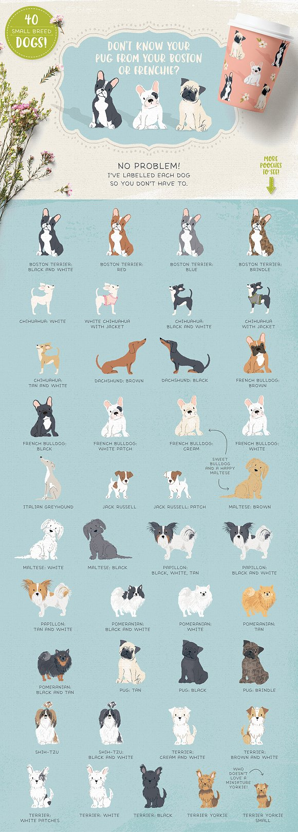 Cats, Dog breeds & Horses: 165 pets in Illustrations - product preview 3