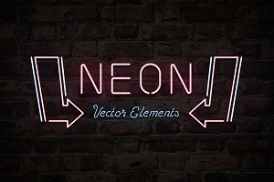 Neon Sign Vector Elements
