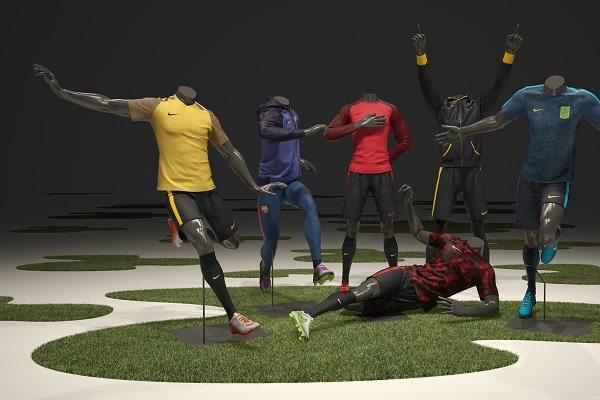3D People Models - Male mannequin Nike Football pack 3D