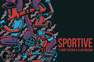 Sportive Illustration
