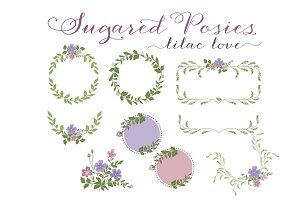 Purple Floral Wreaths & Laurels