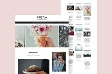 FREYJA-wordpress theme for bloggers