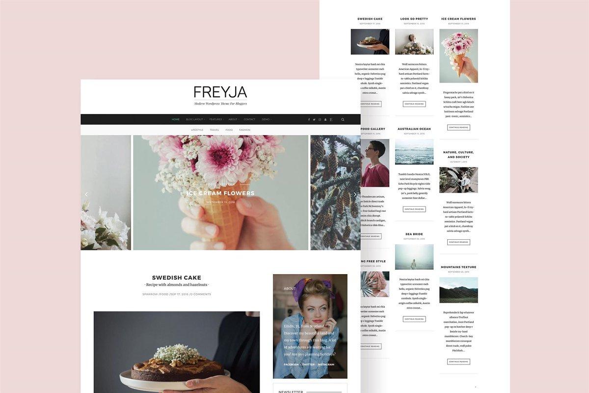 af6fccfc4c5178 FREYJA-wordpress theme for bloggers ~ WordPress Blog Themes ...
