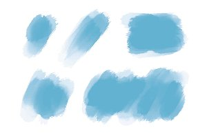 Blue watercolor brush