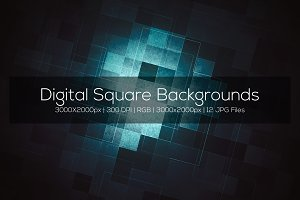 Digital Square Backgrounds